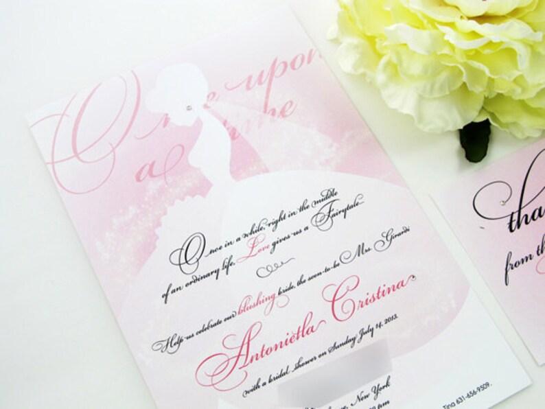 f098b48e25c4 Disney Bridal Shower Invitation Princess Shower Invitation
