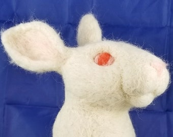 Rabbit Life Size - Needle felt bunny - easter bunny rabbit