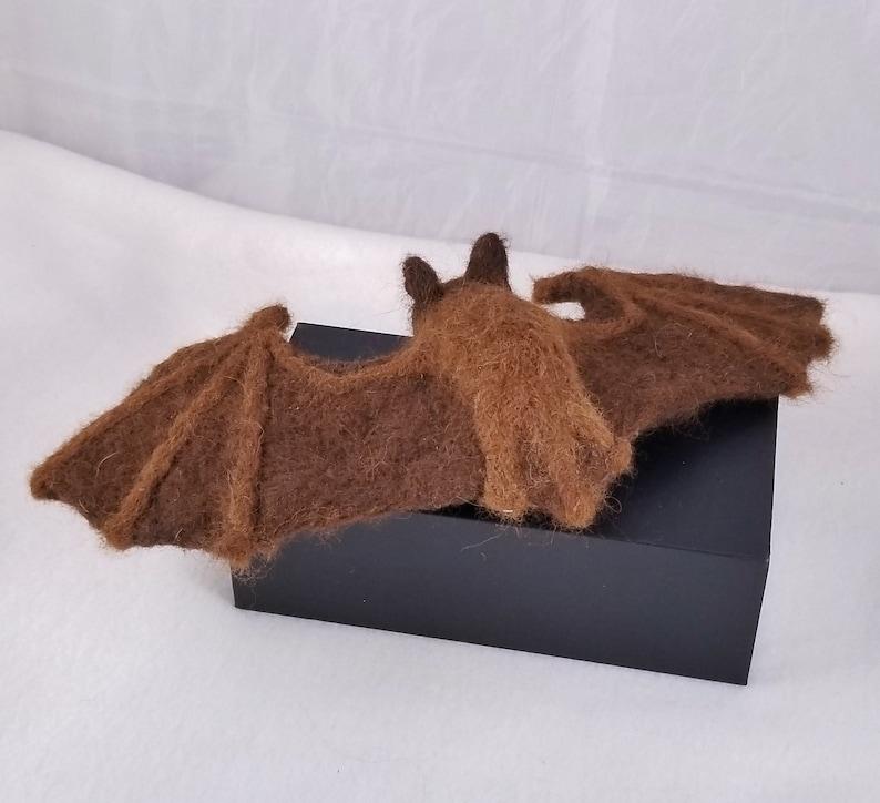 custom bat fruit bat plush Bat figure- needle felt snimal small brown bat