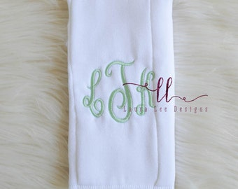 Single Personalized Burp Cloth, Baby Shower, Diaper Bag Accessories, Embroidered Burp Cloth, Monogrammed Gift, Personalized Baby Gift, Bow