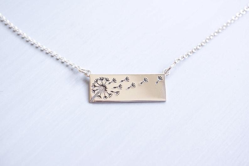 Sterling Silver Dandelion Wish Necklace image 0