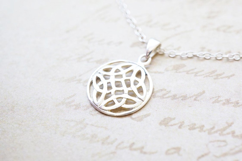 Necklace Silver Necklace Celtic Necklace Celtic Knot image 0