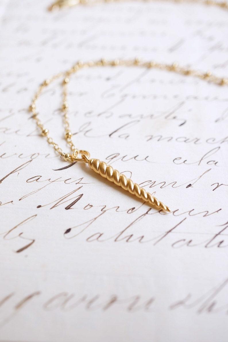 Gold Unicorn Horn Necklace image 0