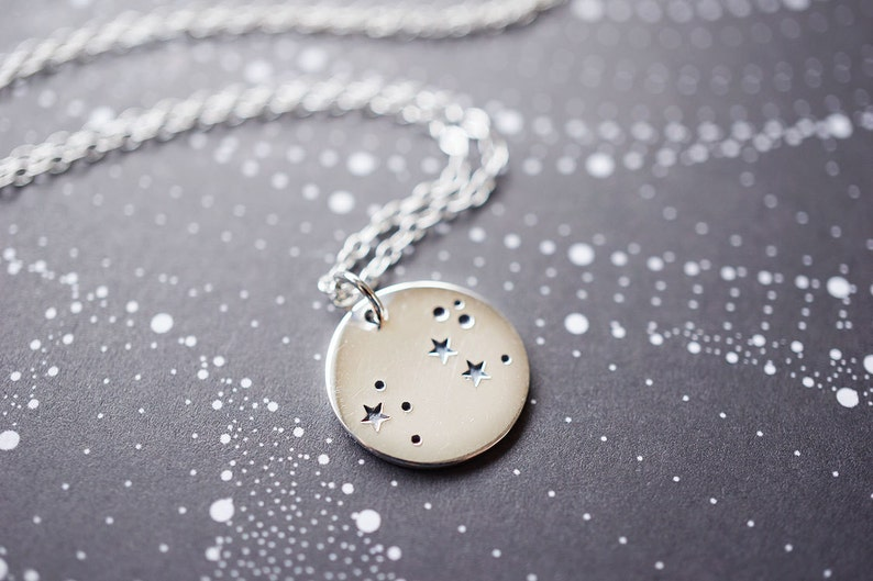 Sterling Silver Leo Constellation Necklace image 0