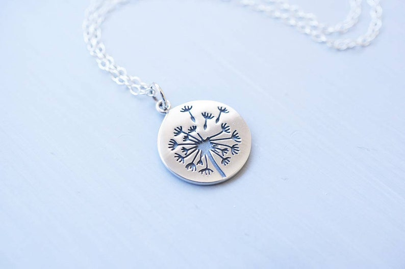 Sterling Silver Dandelion Puff Necklace image 0