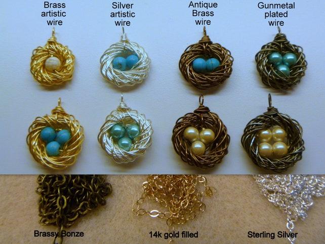 Bird Nest Necklace Mommy Jewelry Mothers Necklace One | Etsy