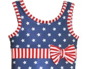 SALE Margaret Swimsuit Leotard in Stars Stripes 2018 Collection (Size 12 18 months - Size 12)