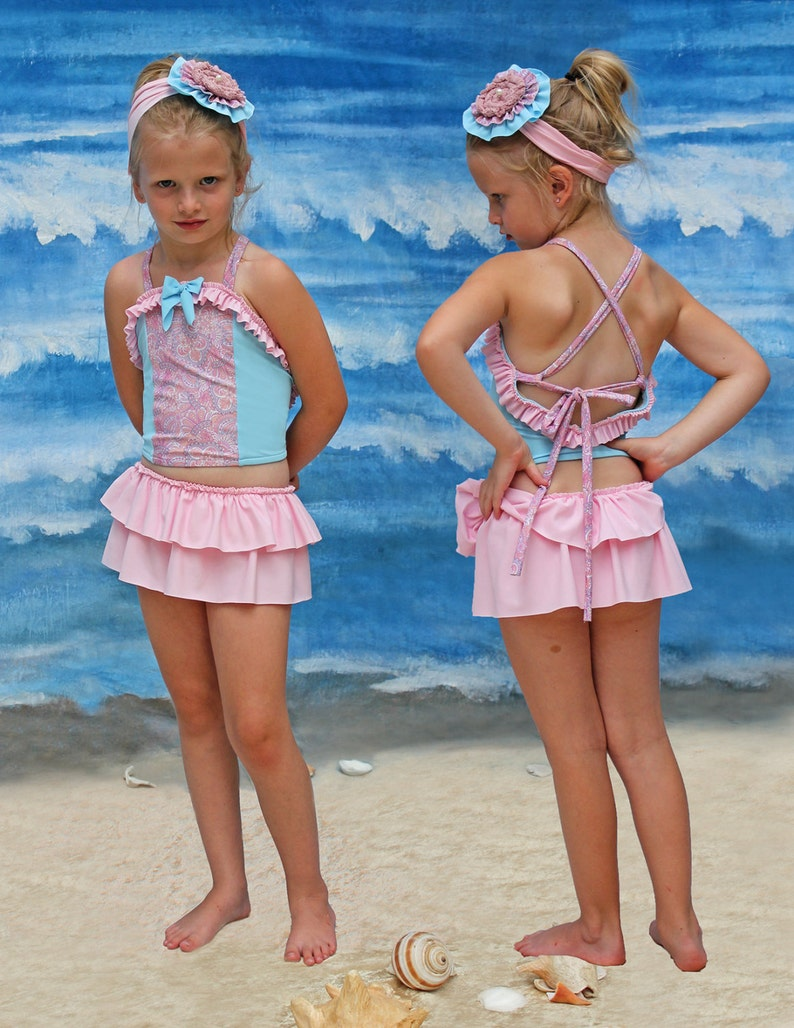 CLEARANCE!! Size 2-6 Princess Skirty Tankini in Spring Bloom