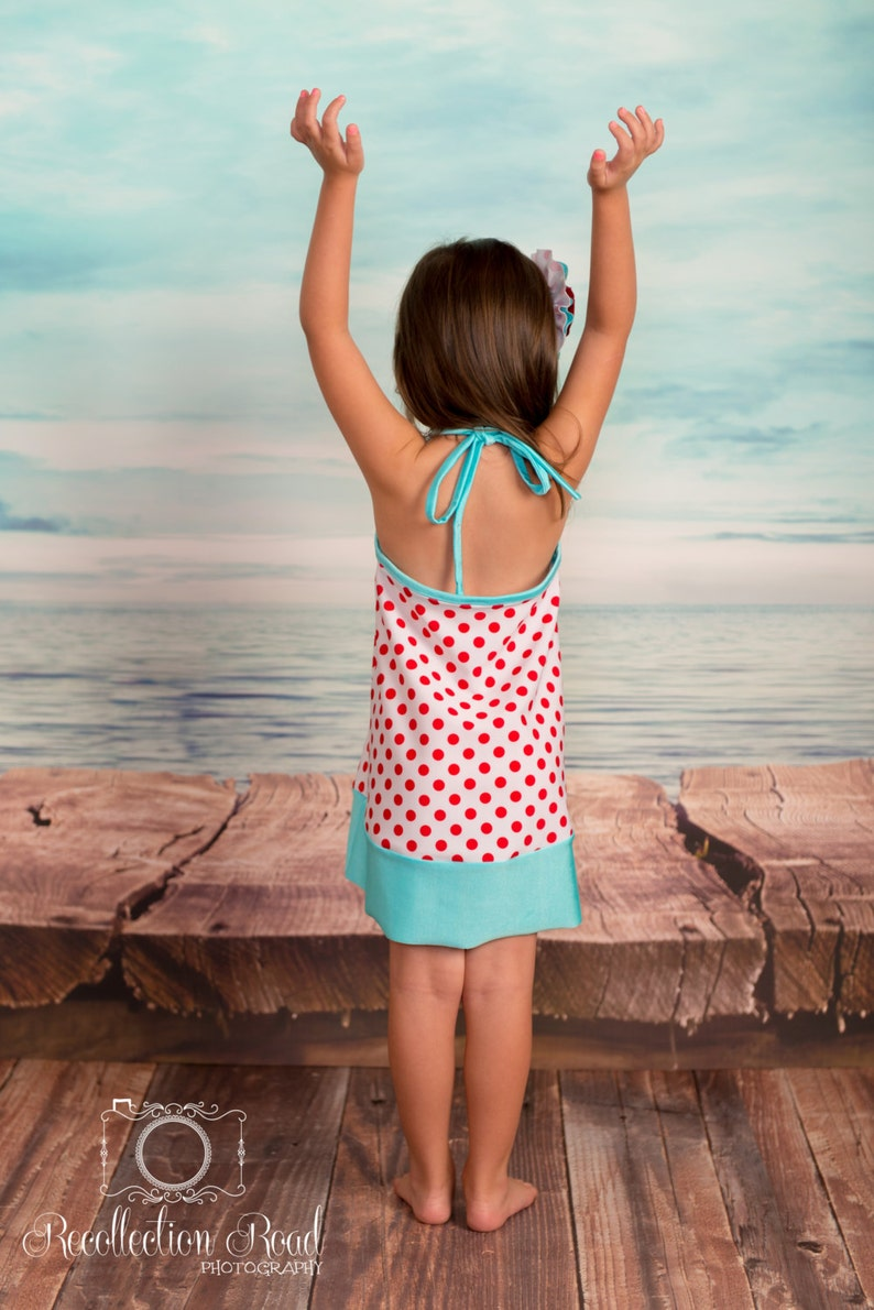 Swimsuit Coverup Dress in Orange Gingham and Hot Pink CLEARANCE Size 2-8 **new lower price!