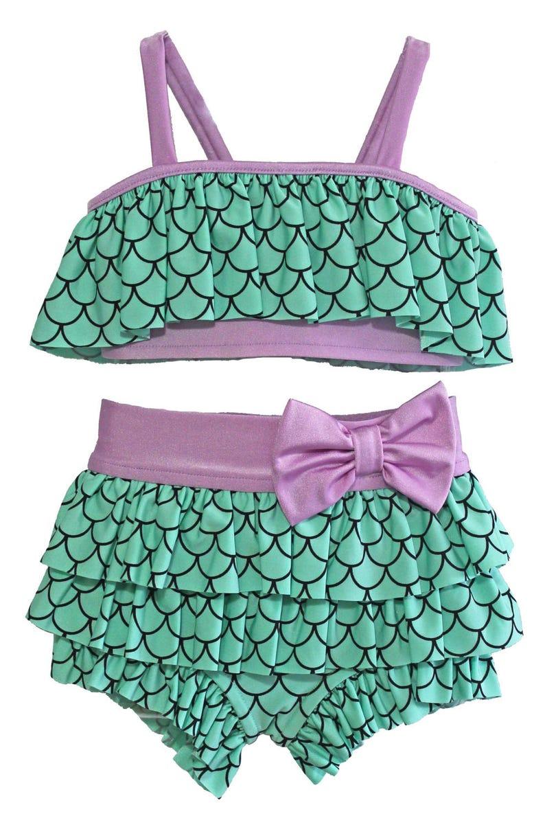 Size 1218 months-12 Flapper Bikini in Mermaid SALE