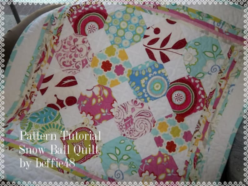 pdf w photos Snow Ball Quilt Pattern Tutorial