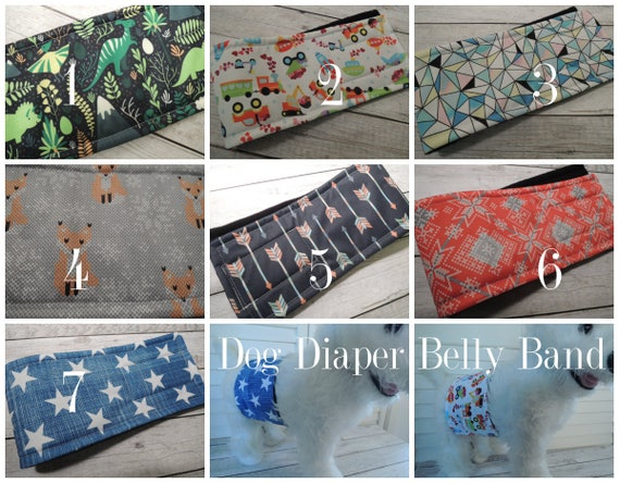 Personalized WeeWrap Belly Band Stop Marking Waterproof Dog Diaper