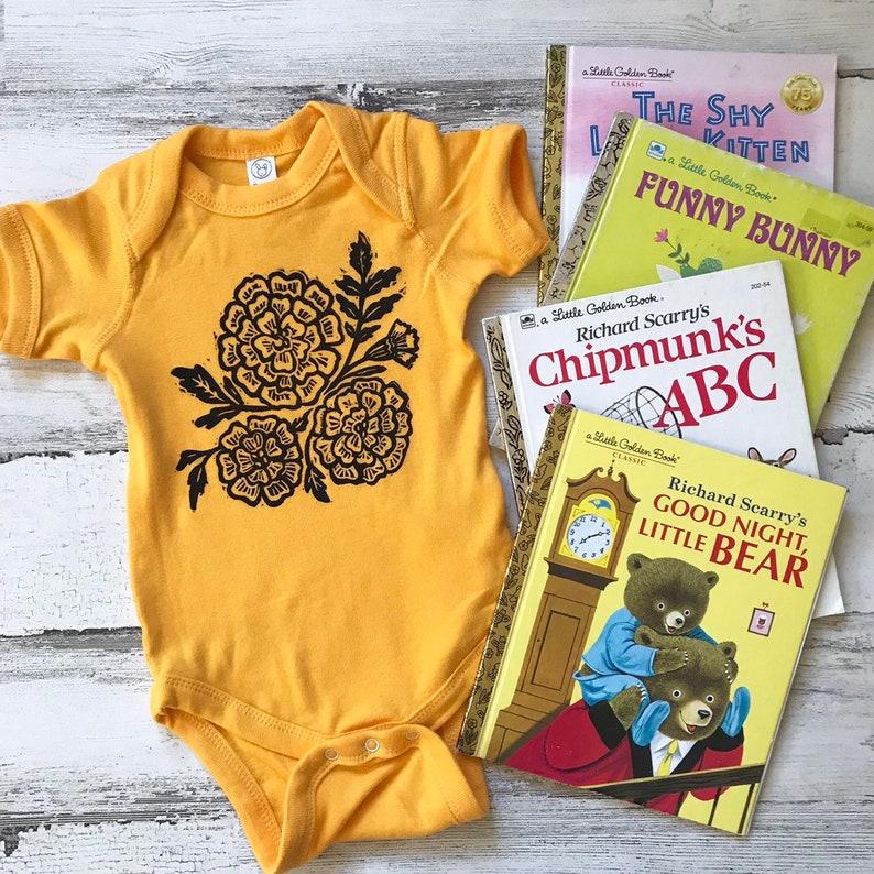 2d6180d22 Marigold Baby Bodysuit Fall Baby Announcement Bodysuit Birth | Etsy