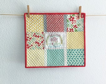 Let us Hold Unswervingly to the HOPE Wall Hanging Table Topper FREE SHIPPING