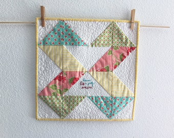 Because Life is Pretty Amazing Mini Art Quilt Wall Art Table Topper - free shipping