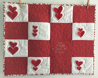 Tune My Heart to Sing Thy Grace Valentines Quilt