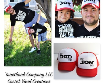 Best Dad Ever and Best Son Ever Trucker Hats ba94d6ec7d6
