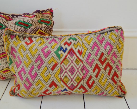 Winter Vintage Moroccan Pink Pattern Kilim Berber Carpet Cushions-lumbar, vintage cushions0, gifts, No.4, , Eid,,winter sale,boxing day sale