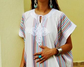 Kaftan, Bedouin  Resort Caftan Kaftan- White- loungewear, as beachwear,cover ups,resortwear, Kaftan, maternity, birthday gifts,beach kaftan