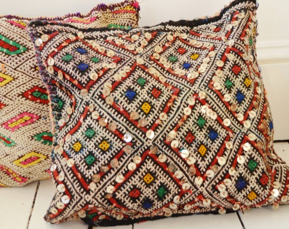 Winter Vintage Moroccan Pattern Kilim Berber Carpet Cushions-lumbar, vintage cushions, christmas gifts, gifts, No.3, , Eid,,christmas gifts