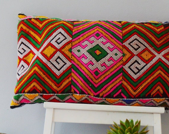 Winter Vintage Moroccan Boho Pattern Kilim Berber Carpet Cushions-lumbar, vintage cushions, christmas gifts, gifts, rug cushion covers