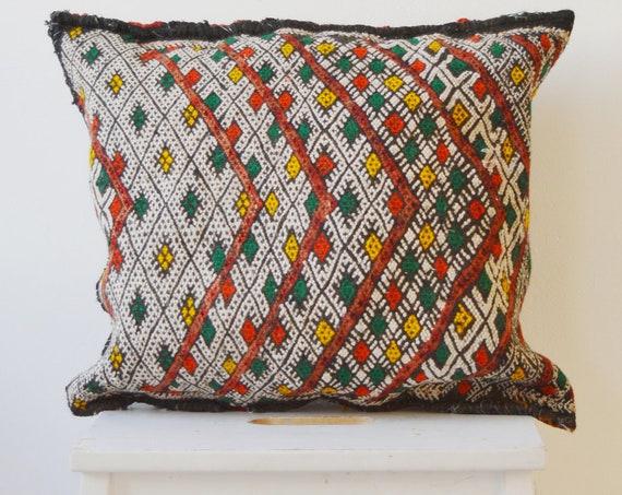 Christmas Gifts Vintage Moroccan Boho Kilim Berber Carpet Cushions-lumbar, vintage cushions, gifts, rug cushion covers No.B