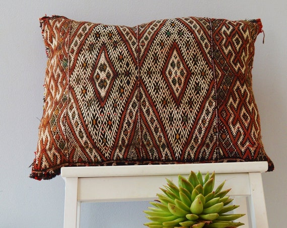 Winter Vintage Moroccan Boho Pattern Kilim Berber Carpet Cushions-lumbar, vintage cushions, christmas gifts, gifts, rug cushion covers No.2