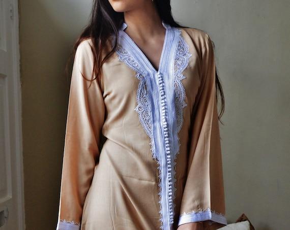 Summer Trend Beige Marrakech Dress - perfect  mother's day gifts,  gifts, resort wear, party,casual dress, , Eid,,summer dress,beach kaftan
