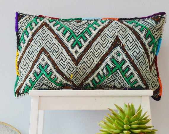 Winter Vintage Moroccan Boho Pattern Kilim Berber Carpet Cushions-lumbar, vintage cushions, christmas gifts, gifts, rug cushion covers No.7