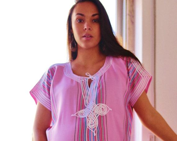 Pink Kaftan, Bedouin Resort Caftan Kaftan-loungewear,beachwear,cover ups,resortwear, maternity,birthday gifts,beach kaftan,  gifts