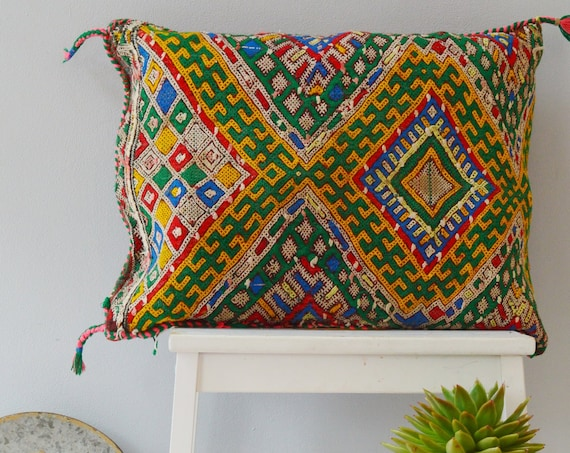 Winter Vintage Moroccan Boho Pattern Kilim Berber Carpet Cushions-lumbar, vintage cushions, christmas gifts, gifts, rug cushion covers No.1