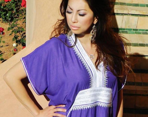 Winter Kaftan Purple Resort Caftan Kaftan -Caftan,resortwear, beach cover up,maxi dresses,maternity gifts, dress, Christmas gifts