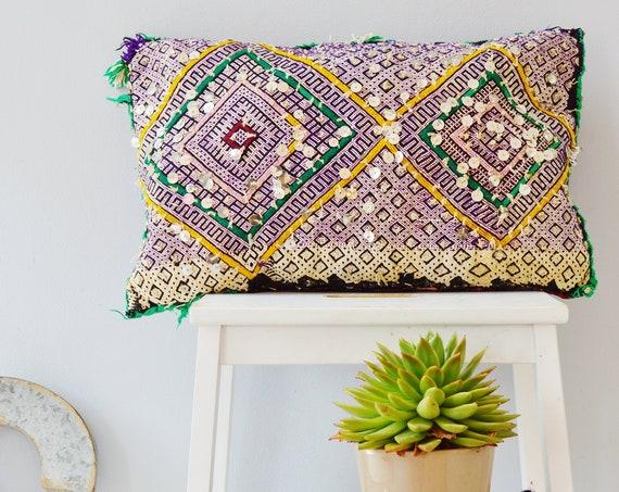 Winter Vintage Moroccan Boho Pattern Kilim Berber Carpet Cushions-lumbar, vintage cushions, christmas gifts, gifts, rug cushion covers No.3