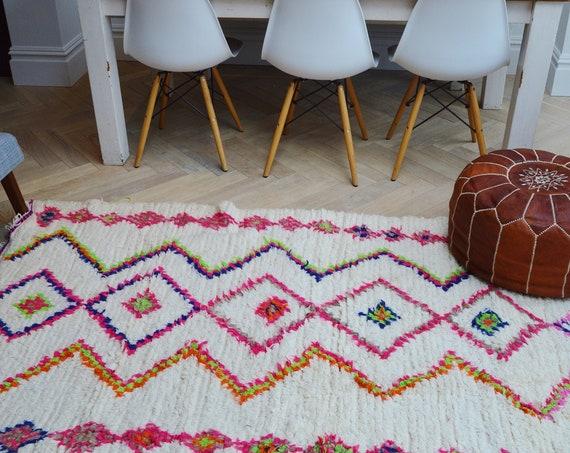 Moroccan Beni Ouirain Rug ,Moroccan Carpet,Hand Woven Rug, Bohemian Rug,Gifts, Christmas gifts, home decor, home giftsNo. 15  88 x 49 inches