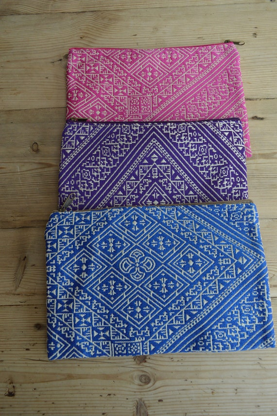 Christmas Gift Clutch Bag, Moroccan Pink Pattern Fabric Hand Clutch Berber style-bag, tote,handbag, purse, holiday gifts, gifts for her, mum