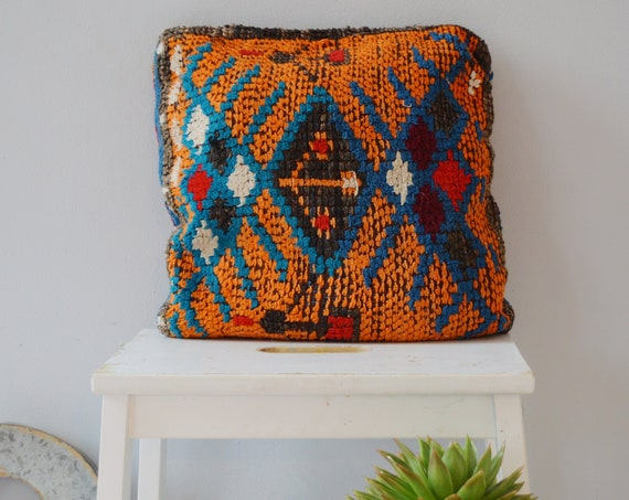 Winter Vintage Moroccan Boho Pattern Kilim Berber Carpet Cushions-lumbar, vintage cushions, christmas gifts, gifts, rug cushion covers No.9