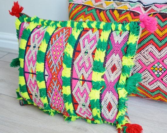 Christmas Gifts Vintage Moroccan Boho Kilim Berber Carpet Cushions-lumbar, vintage cushions, gifts, rug cushion covers No.A,summer dress