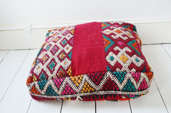 Xmas Gift Ideas,  Winter Trendy Finds, Kilim Moroccan Floor Cushion Pouf -home gifts, wedding gifts, anniversary gifts, christmas gifts #2