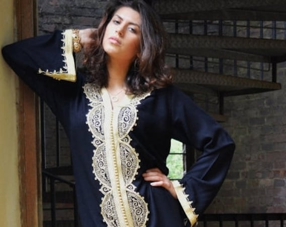 Kaftan Sale 20% Off/ Autumn Winter Black Moroccan Caftan Kaftan -Lella  Style -Luxury loungewear, traditional abayas, resortwear, Birthdays