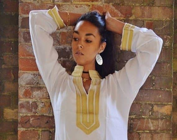 Spring Kaftan Caftan 25% OFF  Sale// White kaftan, Moroccan Mariam/White Moroccan Caftan-loungewear, as beachwear, , gift, dress,