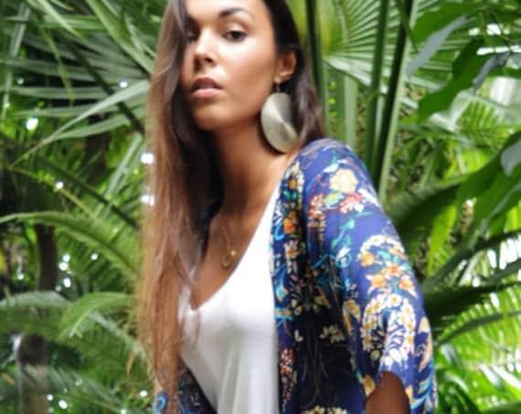 Floral Print Kimono, Jacket, long Jacket, Marrakech Kimono, Robe, Beach Kimono, Winter Jacket, Bohemian, Moroccan Jacket, , Eid,