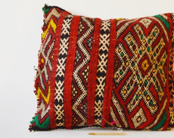 Winter Vintage Moroccan Red Pattern Kilim Berber Carpet Cushions-lumbar, vintage cushions, christmas gifts, gifts, No.20, , Eid,