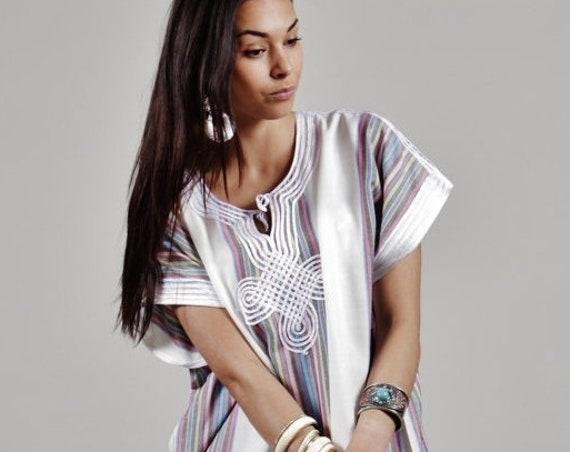 Kaftan Sale 20% Off/ Resort Caftan Kaftan Bedoin Style- White- loungewear, as beachwear, birthday gifts, honeymoon gifts, kaftan, caftan, be