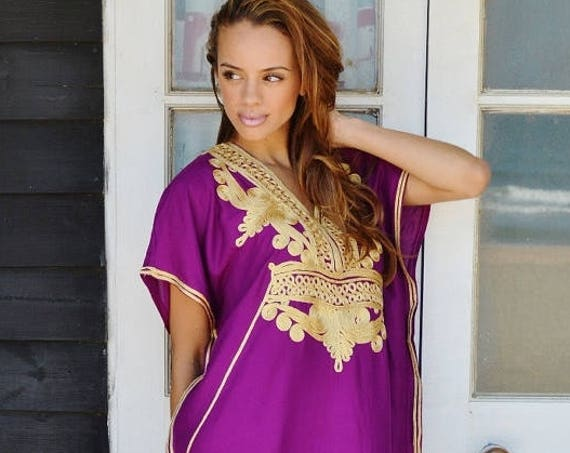 Summer  10% OFF // Trendy Clothing | Royal Purple Gold Marrakech Resort Caftan Kaftan, loungewear, dresses, s, hone,,summer dress,, lounge