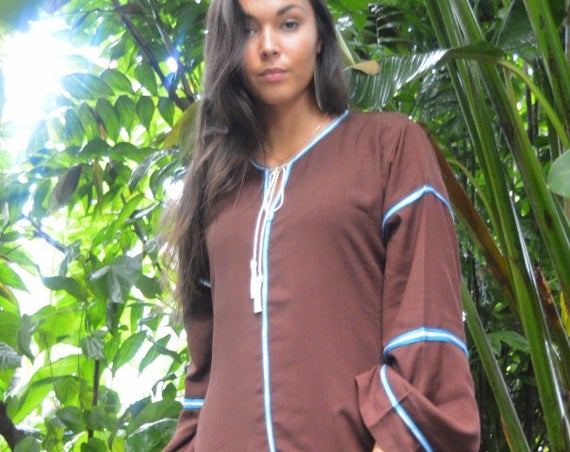 Summer Kaftan, Caftan, Adriana Brown Kaftan Long, Moroccan Kaftan, maxi dress, beach cover ups, beach dress, plus size, Summer dress, gift