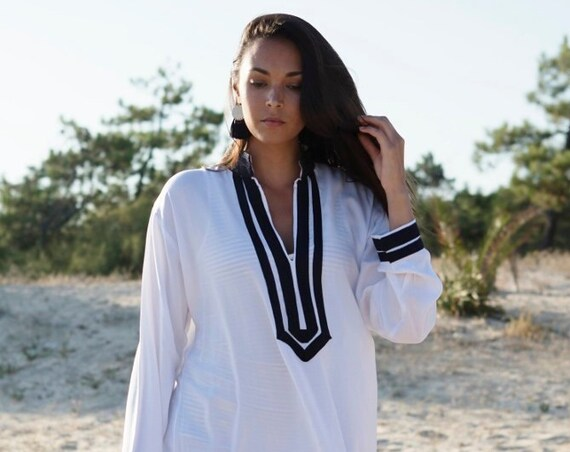 Kaftan Sale / Kaftan White Mariam Style Caftan Kaftan loungewear,resortwear, beach kaftan, moroccan dress, holiday kaftan, maxi dress