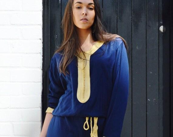 Boho JUMPSUIT   Navy Blue Kara Jumpsuit -loungewear,resortwear,, , Wedding, Maternity gifts, , Eid, Ramadan, Eid,,christmas gifts