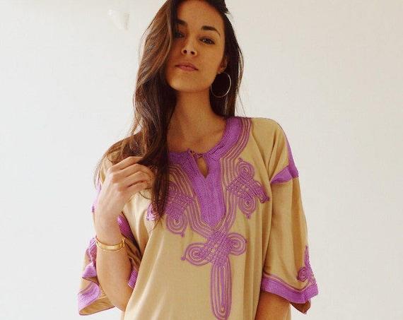 Winter Dress Kaftan Clothing Beige Lilac Caftan Kaftan Maxi Dress -Aziza -loungewear, as resortwear, , Maternity,  dress, dress