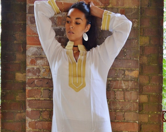 White kaftan, Moroccan Mariam  White Moroccan Caftan Kaftan- as loungewear, as beachwear, , gifts, beach cover up,summer dress,beach kaftan