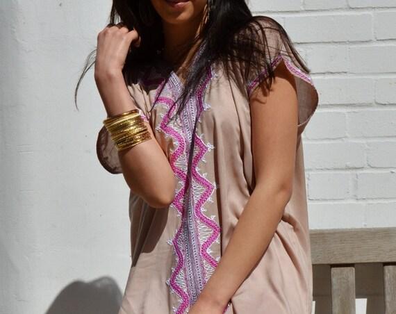 Autumn Dress //Beige Zahra Boho Trendy Caftan Kaftan  giftswear,resortwear,robe,, , Wedding, Maternity gifts, , Eid, dress,,,Ramadan,Easter
